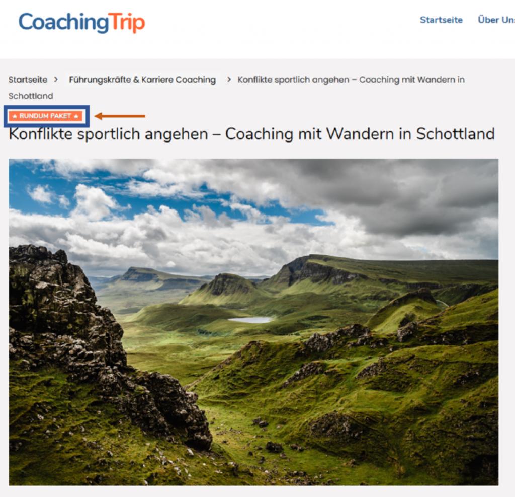 Coaching Reisen mit Rundum Paket