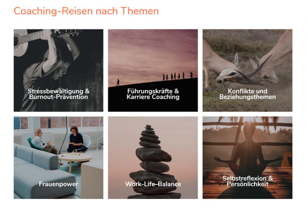Coaching Reise Schwerpunkte / Themen