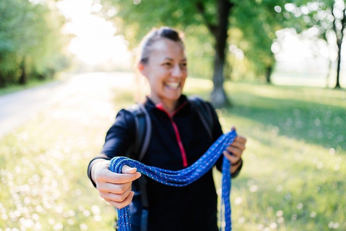 Impression Coach Anja Buntz bei einer Coachingübung