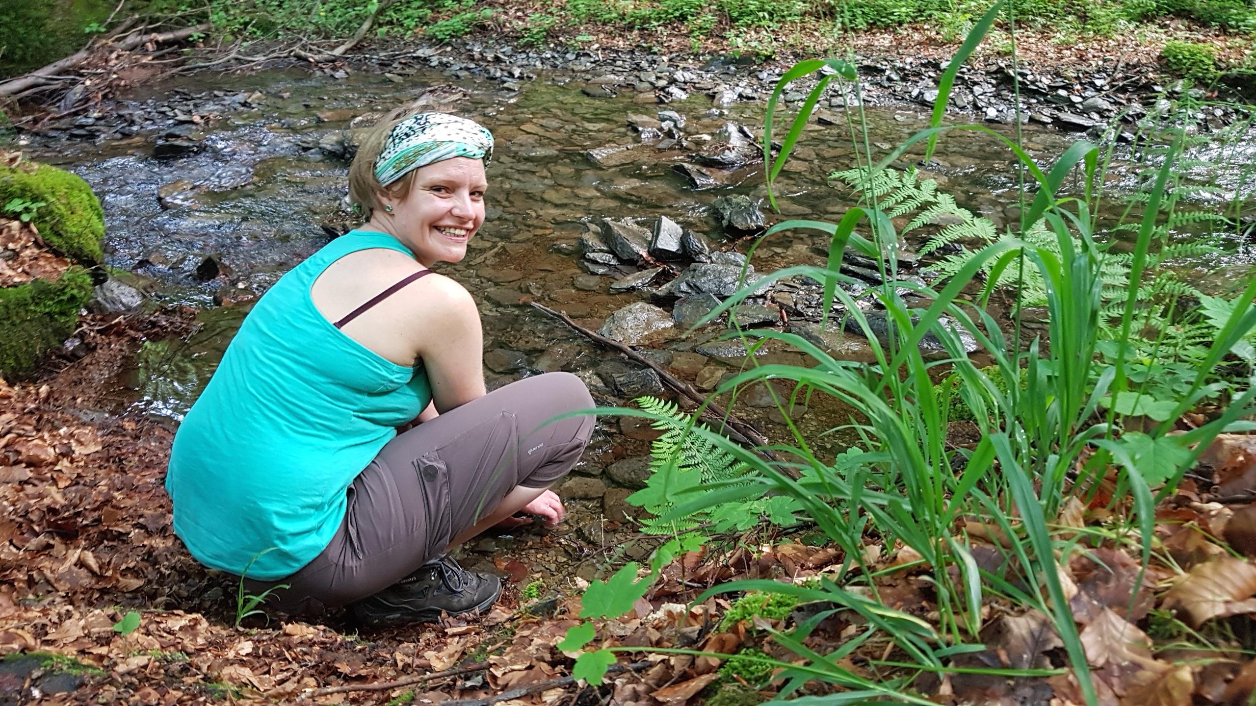 Teilnehmerin beim Wandercoaching