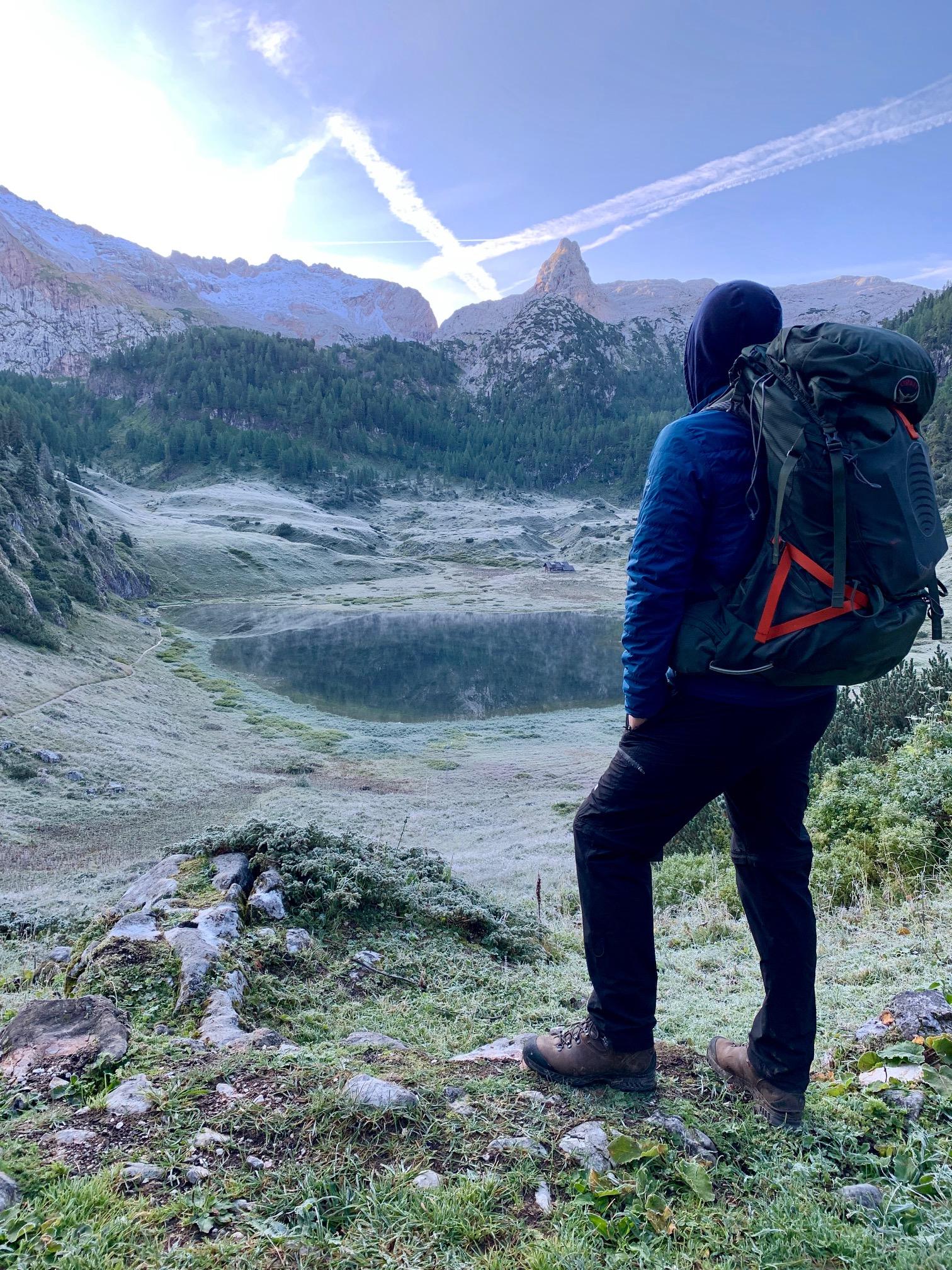 Impression des Hüttencoachings am Königssee mit Blick auf die Berge