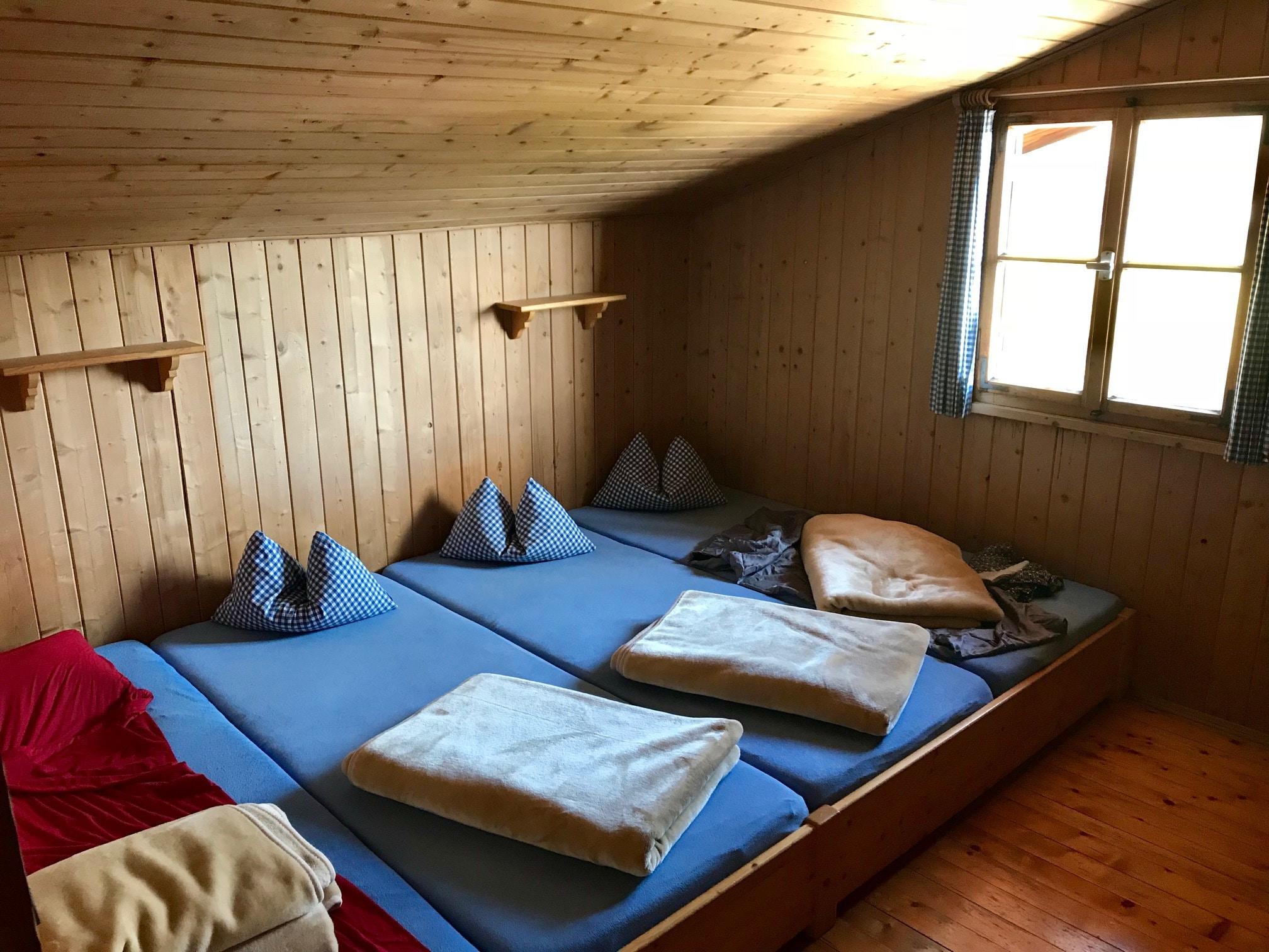 Unterkunft Hütte während der Coaching Reise