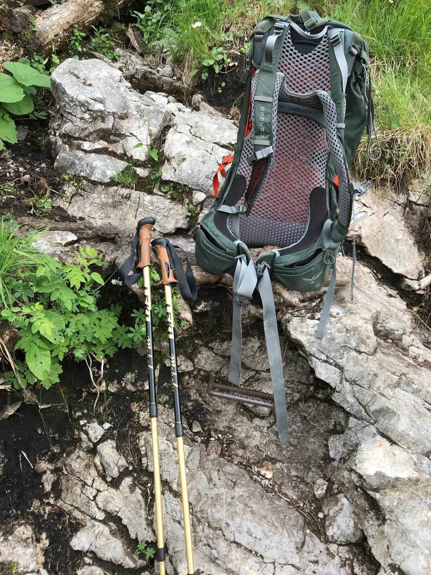 Wanderrucksack während Hüttencoaching am Königssee