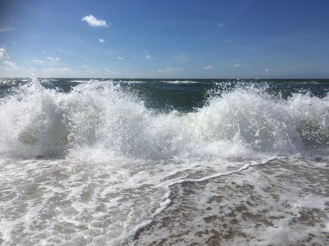 Wellen der Nordsee beim Einzelcoaching auf Sylt