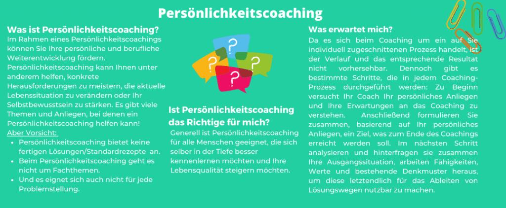 Informationsgrafik - Persönlichkeitscoaching