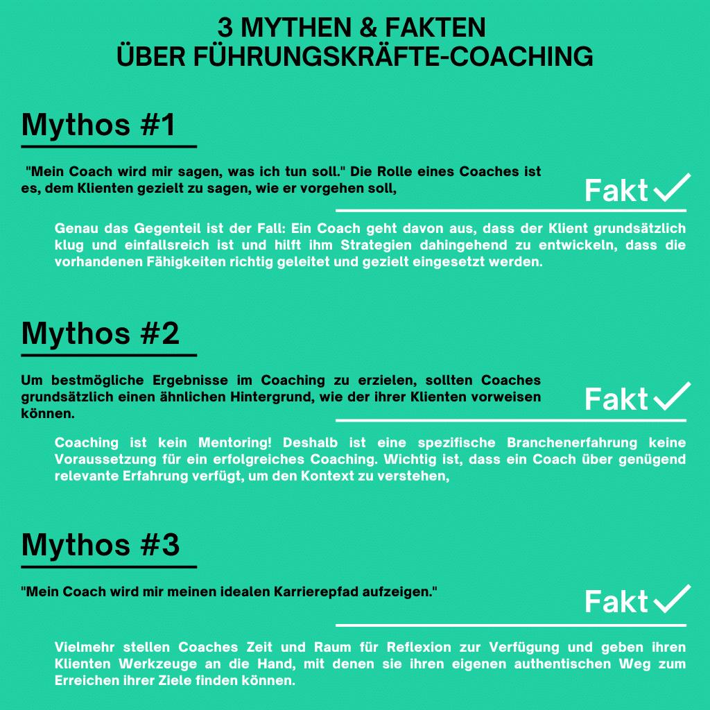 3 Mythen & Fakten zum Thema Führungskräfte-Coaching