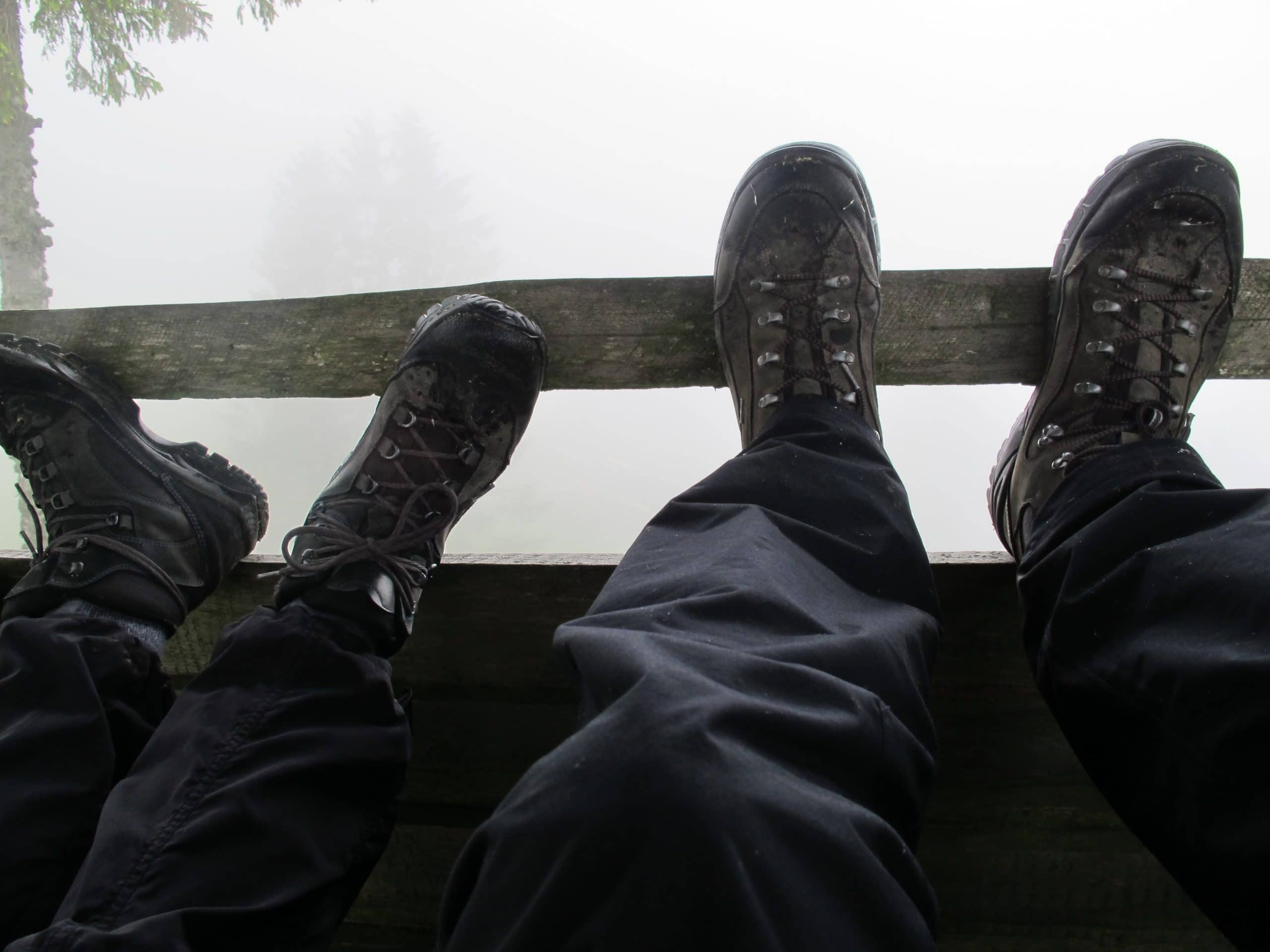 Nach einem intensiven Wandercoaching durchatmen und Füße hochlegen
